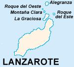 Kartta: Lanzarote ja Chinijo saaristo